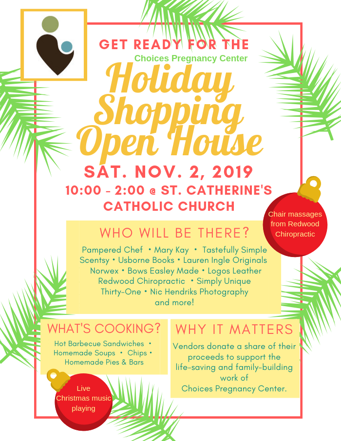 Click to download the 2019 Holiday Shopping Open House poster.
