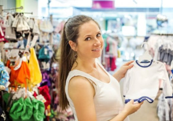 Mom Shopping for Baby Clothes
